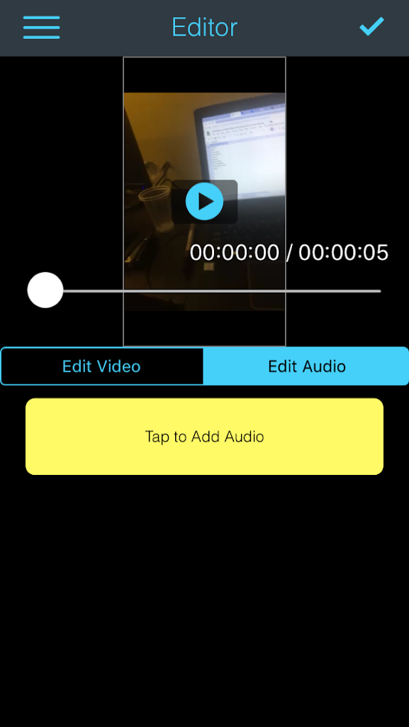 Audio Editing – Add music to video app for iPhone/iPad