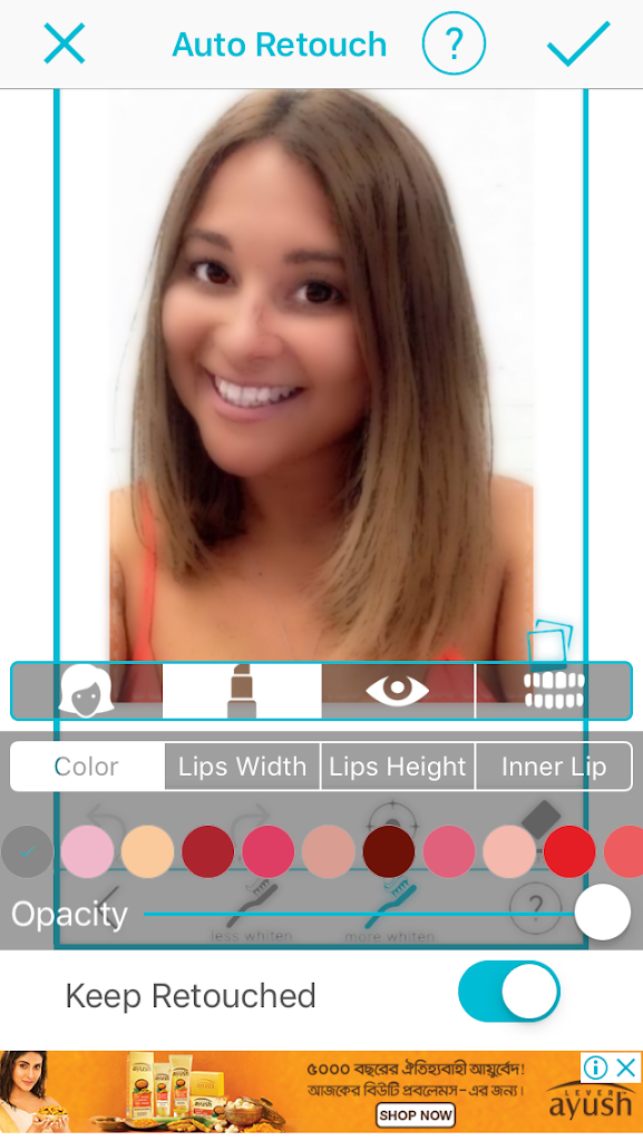 Lips Feature – Selfie Editor for iPhone/iPad