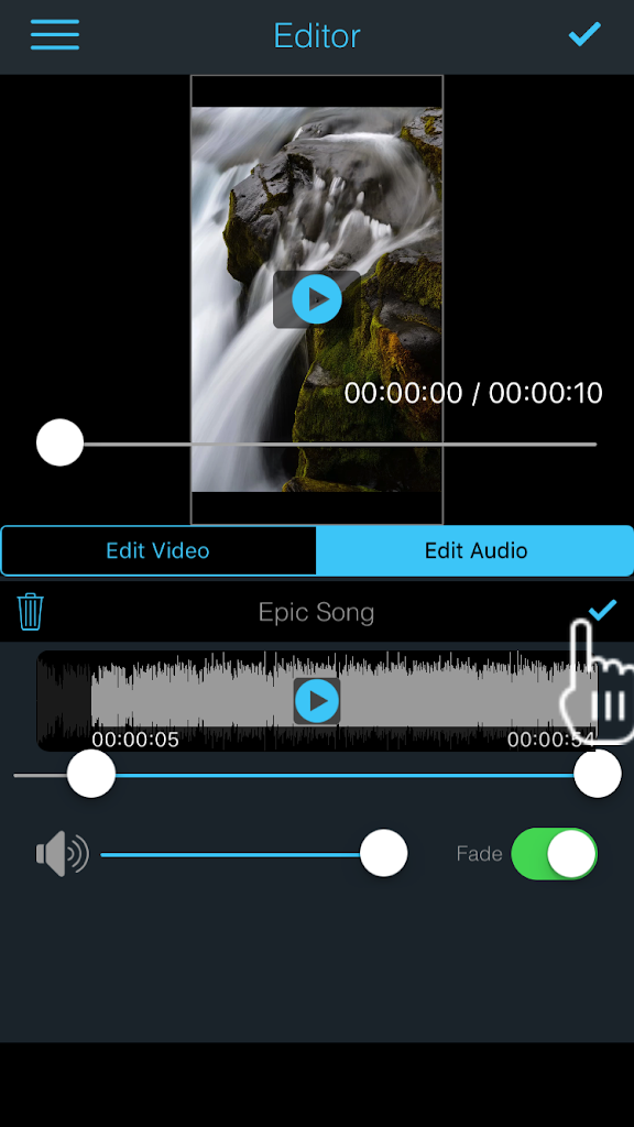 Saving And Sharing Options – Add Music to Video app for iPhone/iPad