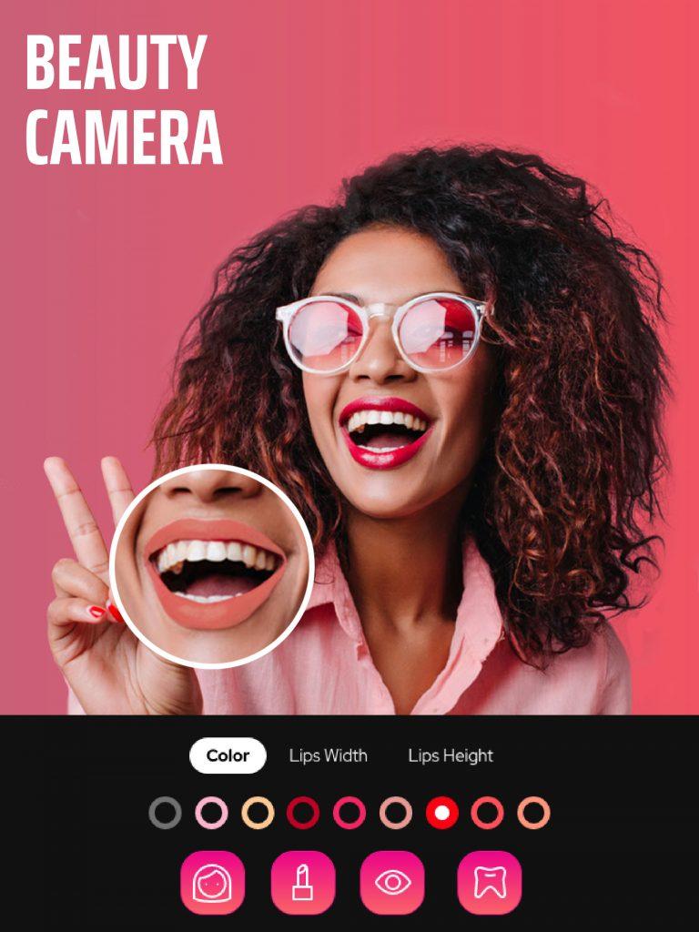Beauty camera in Selfie Editor app